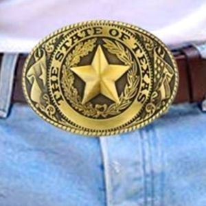 New approximately 4 in state of Texas belt buckle.